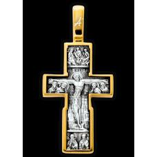 «Распятие с предстоящими. Сретение Господне» Крест нательный. Арт. 101.257