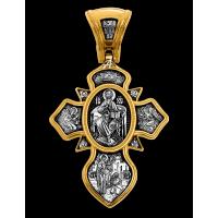 «Святая Троица. Господь Вседержитель. Прп. Сергий Радонежский» Крест нательный.101.282