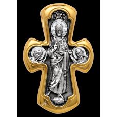 «Деисус. Божия Матерь «Никопея» Крест нательный. 101.019
