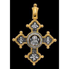 «Господь Вседержитель. Похвала Богородице» Крест нательный. 101.025