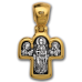 « Спас на престоле. Божия Матерь на престоле » Крест нательный. 101.027
