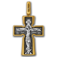 «Распятие. Божия Матерь «Воплощение ». Пять святителей» Крест нательный. 101.039
