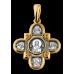 « Господь Вседержитель. Казанская икона Божией Матери и восемь святых » Крест нательный. 101.065