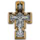 «Распятие. Архангел Михаил. Казанская икона Божией Матери» Крест нательный. 101.084