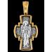 «Распятие Господне. Ангел Хранитель» (вставка из полудрагоценных камней) Крест нательный. 101.085КГ