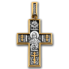 « Господь Вседержитель. Св.мученик Трифон » Крест нательный. 101.087