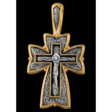 «Распятие. Молитва «Да воскреснет Бог» Крест нательный. 101.090
