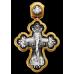 « Распятие. Архангел Рафаил и святые целители » Крест нательный. 101.209