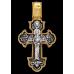«Распятие. Ангел Хранитель» Крест нательный. 101.239