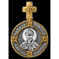 « Святой благоверный князь Димитрий Донской. Ангел Хранитель » Образок. 102.104
