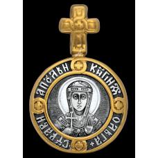 « Святая равноапостольная княгиня Ольга. Ангел Хранитель » Образок. 102.106
