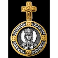 «Святая великомученица Екатерина. Ангел Хранитель» Образок. 102.107