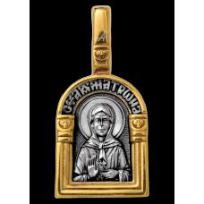 «Святая блаженная Матрона Московская. Ангел Хранитель» Образок. 102.111