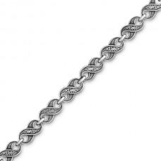 Цепь серебряная без позолоты. Арт. 105.274