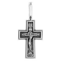 """Нательный крест """"Распятие Христово"""" - Молитва """"Да воскреснет Бог"""" - 101.472"""