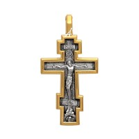 """Нательный крест """"Распятие Христово. Молитва """"Да воскреснет Бог"""" - 101.507"""