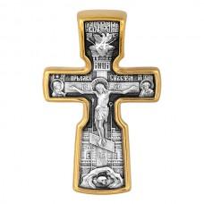 """Нательный крест """"Распятие Христово с предстоящими, Святой Николай Чудотворец"""" - арт. 101.517"""
